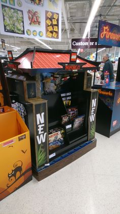 Lego Ninjago shipper in Sainsburys, with moving characters and light up lanterns