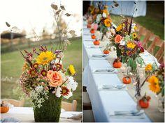 Fall wedding decor #fallwedding #fall #flowers