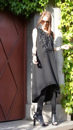 Maxi Elegant Black Dress Unique Sophisticated Extravagant Dress Perfect for different events,parties , dinners... A definite Head Turner !!!  ♥ THE