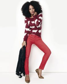 I absolutely LOVE this woman's hair!!!  ~Solange Knowles for Madewell