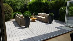 Reliaboard Grey - a light, contemporary choice solutions Timbertech Decking, Composite Decking, Wood Grain, Contemporary Design, Patio, Traditional, Grey, Outdoor Decor, Modern