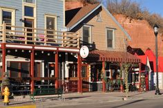 Manitou Springs Colorado downtown ~ foothills of Pikes Peak | I lived above an artist's cooperative for six weeks after living in Colorado Springs for 26 years and before moving to Florida.