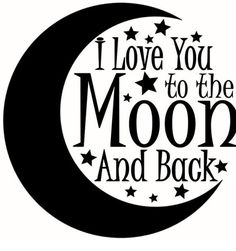I Love You to the Moon and Back SVG Cut by DesignFilesBoutique