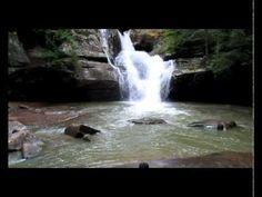 Beautiful Cedar Falls in the Hocking Hills State Park, Ohio.