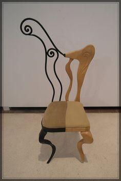 Silla en hierro y arce by Tamal-muebles.deviantart.com #mueble #silla