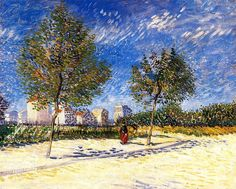 On the Outskirts of Paris, Vincent van Gogh, 1887
