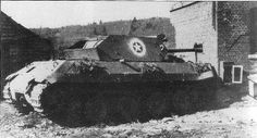 A captured Sherman used by the Germans, but denied to Panzer Brigade abandoned round the back of the Hotel des Ardennes. German efforts to create a unit equipped with Allied armour failed miserably. Willys Mb, Panther, Army Vehicles, Armored Vehicles, Military Art, Military History, American Uniform, American Line, Military Equipment