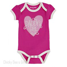 Hatley Infant One Piece DADDY'S GIRL baby onesie