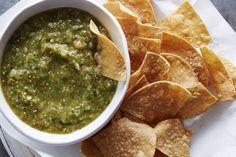 Easily the best tomatillo salsa that you'll ever taste! Roasted tomatillos with a few extra ingredients in a food processor - it couldn't be easier.