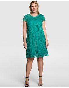El Corte Ingles vestido encaje verde o azul tallas grandes 100€
