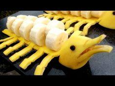 Art In Banana Dolphins | Fruit Carving Garnish | Banana Art | Party Garn...