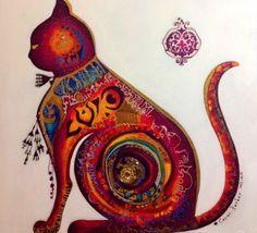 Canan Berber $3000 Art Arabe, Pop Art, Hamsa Art, Art Populaire, Arabic Art, Turkish Art, Cat Colors, Art Abstrait, Art Festival