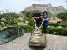Inside a famous old shoe in Cartagena, Columbia