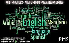 A PMS Traduções conta com uma equipe de tradutores especializados em diversos idiomas.   Precisando de tradução para quaisquer idiomas?   Entre em contato com a PMS Traduções e tenha a garantia de um serviço de qualidade, ágil e sigiloso.  Site: www.pmstraducoes.com.br  E-mail: contato@pmstraducoes.com.br  (11) 3090-2455 / (17)( 3013-2988  (11) 95727-2655 / (17) 99645-2988