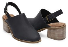 Honey Leather Women's Leila Slingback Booties | TOMS®