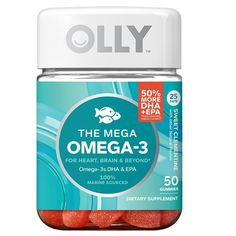Olly Mega Omega-3 Sweet Clementine Vitamin Gummies - 50 Count