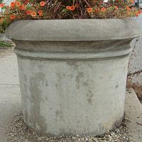 Concrete Classics - Turned Planter - can be used as a barrier Large Concrete Planters, Chess Table, New York Style, Planter Pots, Canning, Park, Classic, Checkerboard Table, Derby