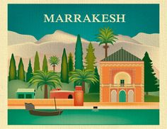 Hey, I found this really awesome Etsy listing at https://www.etsy.com/uk/listing/233315892/marrakesh-skyline-art-print-moroccan
