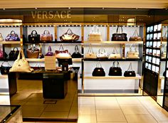 Harrods...drooling over the Versace accessory section...