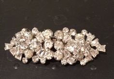 Vintage Clear Rhinestone Faux Diamond Sliding by KMSCollectibles
