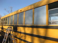 documenting the conversion of a yellow school bus into alternative housing, selling homemade mohair for knitting or crocheting, Gonzalez, Texas School Bus Tiny House, School Bus Camper, Rv Bus, Magic School Bus, Bus Remodel, Converted School Bus, Bus Living, Tiny Living, Short Bus