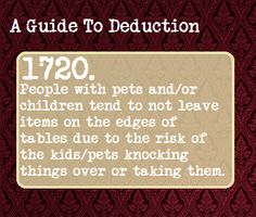 A Guide To Deduction | # 1720