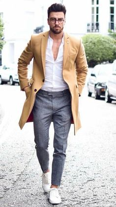 Street Snaps! Random Spring 2017 Street Style Inspirations. | Follow rickysturn/mens-casual for more Trending Men's Fashions Those pants, shoes and a white button up! Nice http://www.99wtf.net/young-s