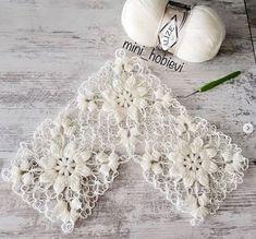 Crochet Twist, Crochet Lace Edging, Crochet Squares, Filet Crochet, Cute Crochet, Beautiful Crochet, Crochet Shawl, Crochet Flowers, Crochet Stitches
