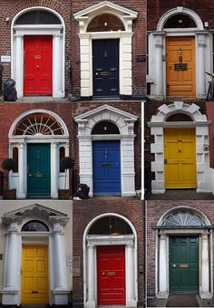 Georgian doors, Dublin.