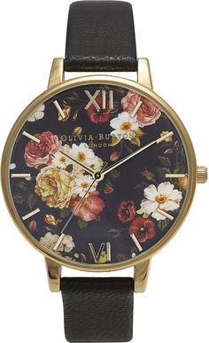 OLIVIA BURTON Winter Garden yellow gold-plated watch