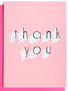 polka dot, typography, design, print, pattern, lettering, greeting card, pink, thank you, type