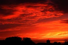 Sunset on 22nd August 2011.  Photo by Lyn Thurman