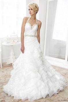 val stefani spring 2013 beaded halter fit flare wedding dress d8031