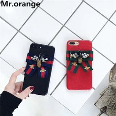Mr.orange 2017 Luxury Fashion Brand Bee Bow Phone Cases For Iphone 6 6s 7plus Tiger Bee Sneak Butterfly Phone Cases Cover -  Get free shipping. This shopping online sellers give you the best deals of finest and low cost which integrated super save shipping for Mr.orange 2017 Luxury Fashion Brand Bee bow phone cases for iphone 6 6s 7plus Tiger Bee Sneak Butterfly Phone Cases Cover or any product.  I think you are very lucky To be Get Mr.orange 2017 Luxury Fashion Brand Bee bow phone cases for…