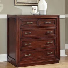 @Overstock - Create distinctive style with this modern drawer chest from Home Styles. Mahogany solids and cherry veneers are accented with a neoteric seven-step cherry finish.http://www.overstock.com/Home-Garden/Home-Styles-Cherry-Duet-Drawer-Chest/7094237/product.html?CID=214117 $416.99