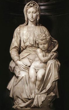 Madonna and Child - marble sculpture by Michelangelo - Church of Notre Dame, Bruges, Belgium History of Art: Architecture and Sculpture