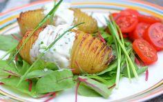 Hasselback aardappel roomkaas