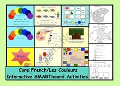 """This is a Smart Notebook file to teach """"Les Couleurs"""". French Teacher, Teaching French, Creative Teaching, Teaching Tips, French Websites, French Colors, Core French, French Education, Learn Hebrew"""