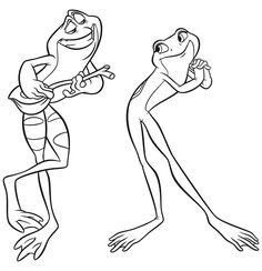 The Princess & the Frog Coloring Page