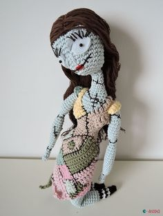 Sally amigurumi nightmare before christmas by ahooka (link to pattern in the article)