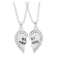BeOne®Best Friend Gifts BFF Gold Silver CZ Diamond Best Friend Engraved Heart Necklace Pendant Set (White) BeOne http://www.amazon.com/dp/B014F07YQS/ref=cm_sw_r_pi_dp_P774vb15F3WPG