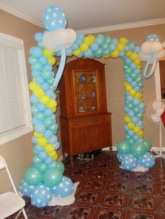 Framed Pacifier Column makes a grand statement for a Baby Shower
