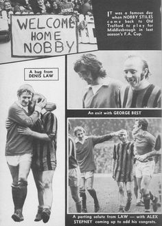 February Former Manchester United favourite Nobby Stiles receiving a friendly welcome when he returns to Old Trafford with Middlesbrough for FA Cup Round tie. Manchester United Gifts, Manchester United Players, Man Utd Squad, Middlesbrough Fc, Famous Day, Nobby, Football Icon, Class Games, Premier League Champions