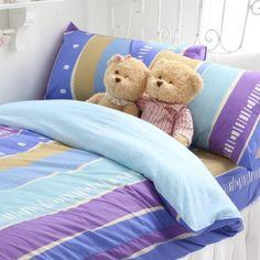 床包組-單人 【快樂生活-藍】含一件枕套, 高透氣棉 ,Artis台灣製內容件數:薄床包x1+美式枕套x1 材質:20%棉80%極細纖維 產地:台灣 尺寸:單人
