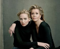 <3 Jennifer Lawrence and Jane Fonda, by Annie Leibovitz <3                                                                                                                                                                                 More