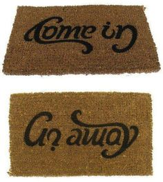 Come in / Go away #rug