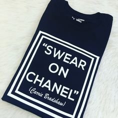Swear on my #chanel  #graphictee  #flashesofdelight #fashion #instagood #graphictshirt #girlboss #stylediaries #chic #thelittlethings #styleinspo #stylesteals #ontrend #musthave #fashionista #wearitloveit #ootd #streetwear #sexinthecity #carriebradshaw