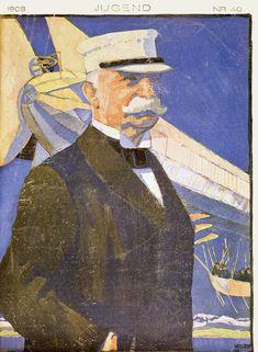 Satire, Kaiser Wilhelm, Zeppelin, Balloons, Painting, Art, Magazines, Idea Paint, Art Background