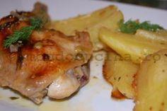 Pulpe de pui la cuptor cu sos special Meat, Chicken, Food, Essen, Meals, Yemek, Eten, Cubs