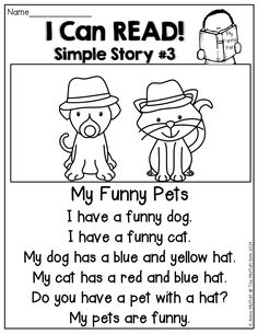 I Can READ Simple Stories!  Simple stories made up of SIGHT WORDS and CVC words to help build confidence and FLUENCY!